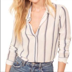 Reformation Violet button down shirt